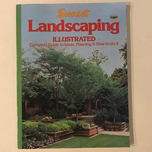 VINTAGE Sunset Landscaping Illustrated book